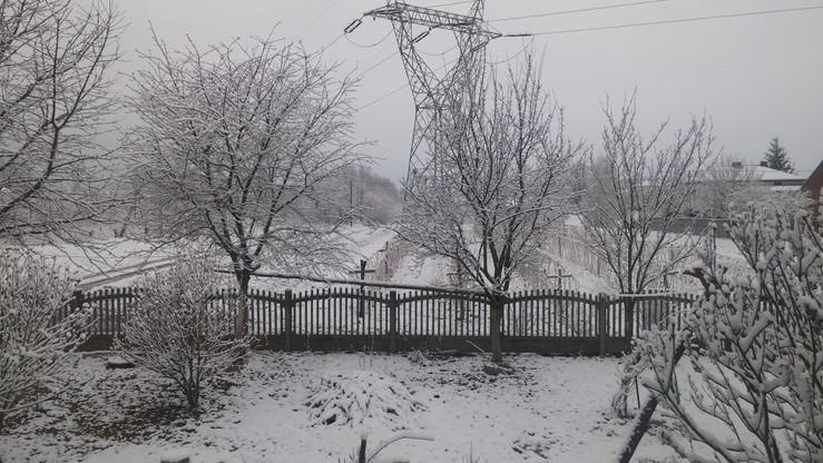 Zimowa sceneria w Potoczku
