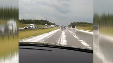Gradobicie na południu Polski. Biała autostrada A1