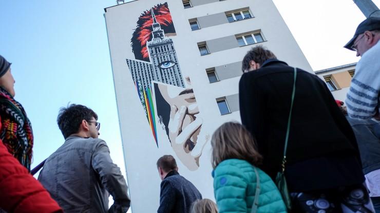 David Bowie na muralu w Warszawie