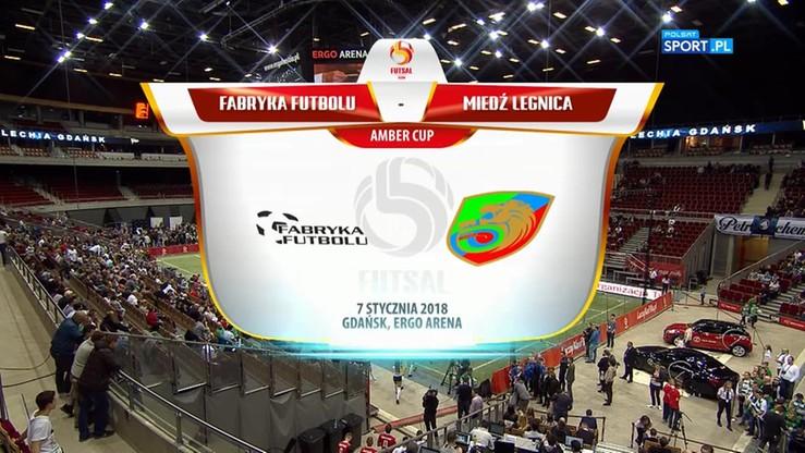 Amber Cup: Miedź Legnica - Fabryka Futbolu 3:2. Skrót półfinału