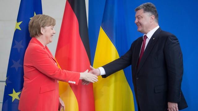 Merkel i Hollande z Poroszenką, ale bez Putina