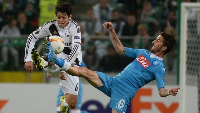 LE: Legia poszła w ślady Lecha 0:2 z Napoli