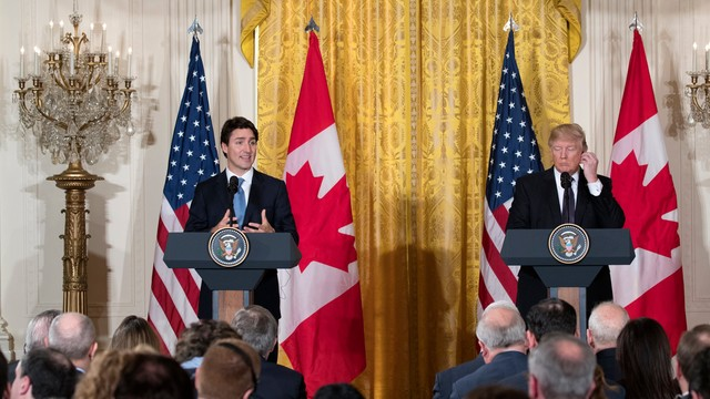 Trump spotkał się z Trudeau. Broni swojej polityki w sprawie imigracji