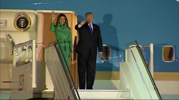 Przylot i powitanie Donalda Trumpa w Polsce