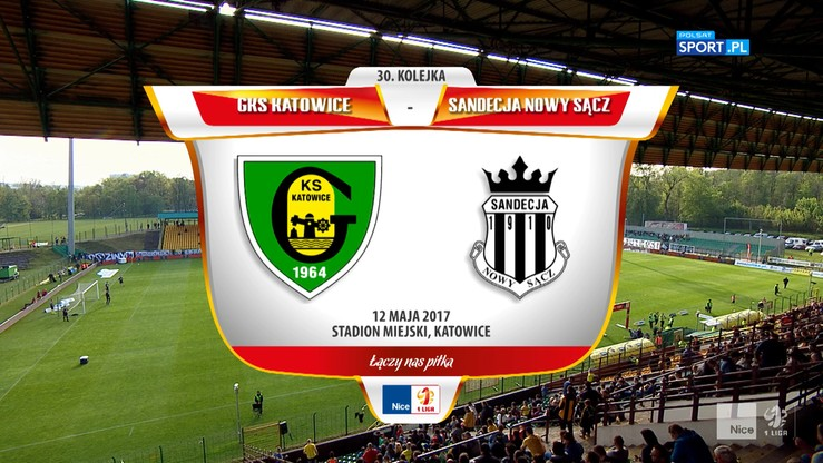 2017-05-12 GKS Katowice - Sandecja Nowy Sącz 0:1. Skrót meczu