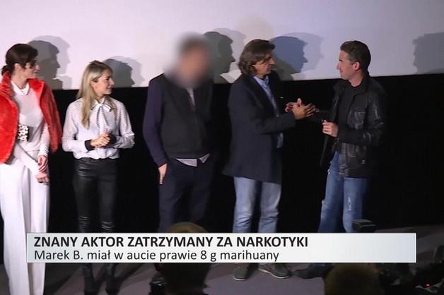 Aktor Marek B. zatrzymany za posiadanie