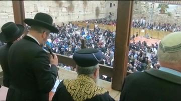 Modlili się o deszcz pod Ścianą Płaczu. Susza w Izraelu trwa od czterech lat