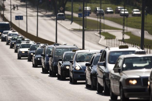 Białystok: protest taksówkarzy