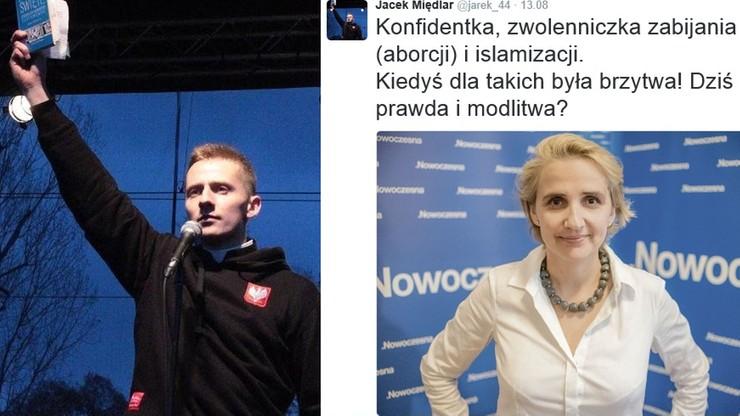 """""""Kiedyś dla takich była brzytwa"""" - posłanka Nowoczesnej idzie do prokuratury z wpisem ks. Międlara"""