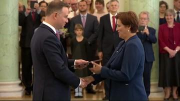 Halina Szymańska nową szefową Kancelarii Prezydenta. Dotychczasowa - w PZU