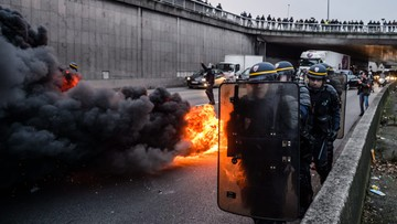 26-01-2016 11:38 Francja: strajkujący taksówkarze starli się z policją