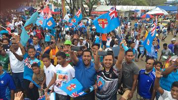 22-08-2016 17:59 Mieszkańcy Fidżi świętują olimpijskie złoto rugbistów