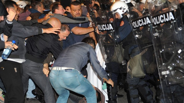 Czarnogóra: antyrządowa demonstracja, policja użyła gazu łzawiącego