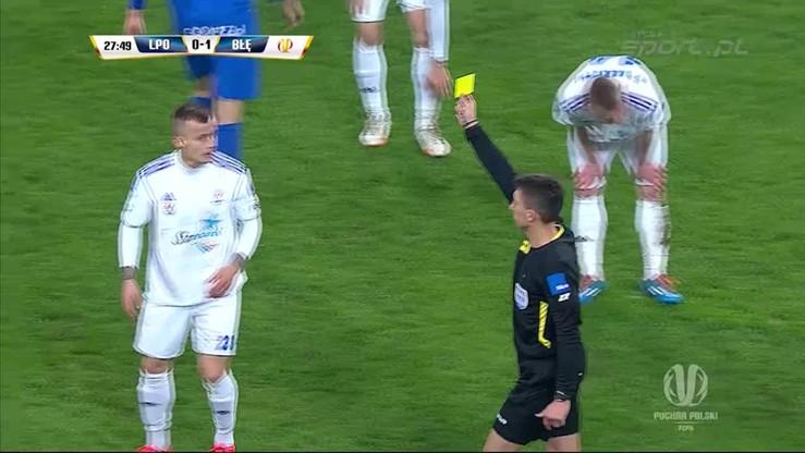 Kosakiewicz wpadł pod GILotynę. Sędzia wyrzuca zawodnika Błękitnych z boiska!