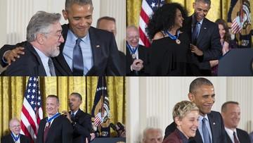 23-11-2016 06:31 De Niro, Ross, Hanks. Obama po raz ostatni wręczył Medale Wolności