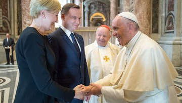 05-06-2016 16:44 Prezydent spotkał się z papieżem Franciszkiem