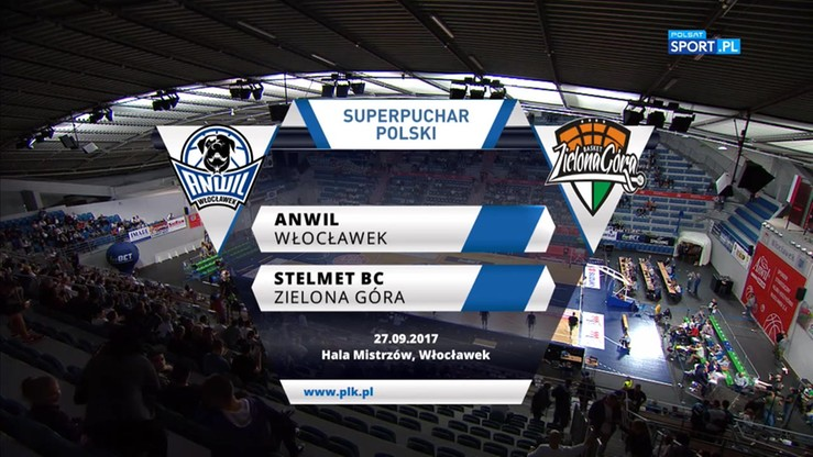 Anwil Włocławek - Stelmet BC Zielona Góra 92:89. Skrót meczu