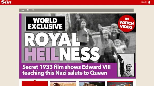 Królowa jak Korwin - skandal z heilowniem w Wlk. Brytanii