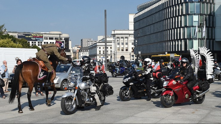 Z Warszawy wyruszył XVI Międzynarodowy Motocyklowy Rajd Katyński
