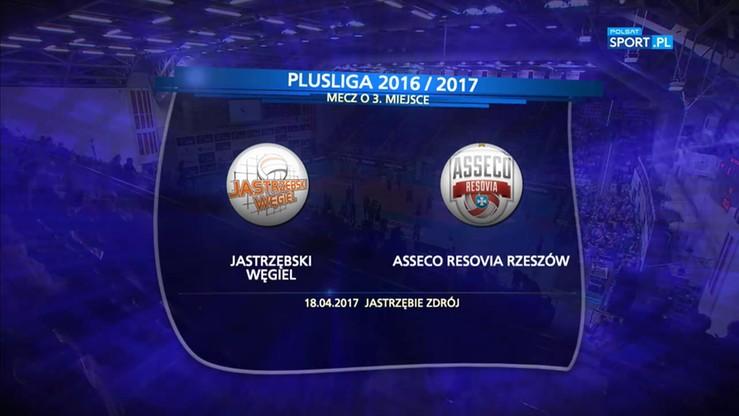 Jastrzębski Węgiel - Asseco Resovia 3:1. Skrót meczu
