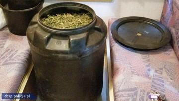 12-12-2016 07:06 Magazyn narkotykowy na posesji z dwumetrowym wałem. W środku 42 kg marihuany, 2 kg haszyszu