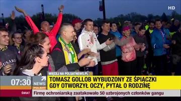 """2017-04-26 """"Jesteśmy z Tomkiem"""". Przyjaciele i kibice pobiegli dla Golloba, wśród nich - minister sportu"""