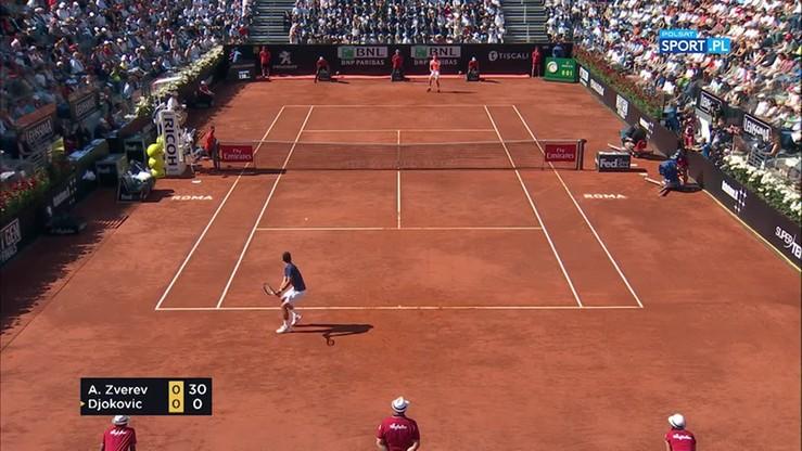 ATP Rzym: Alexander Zverev - Novak Djokovic 2:0. Skrót finału