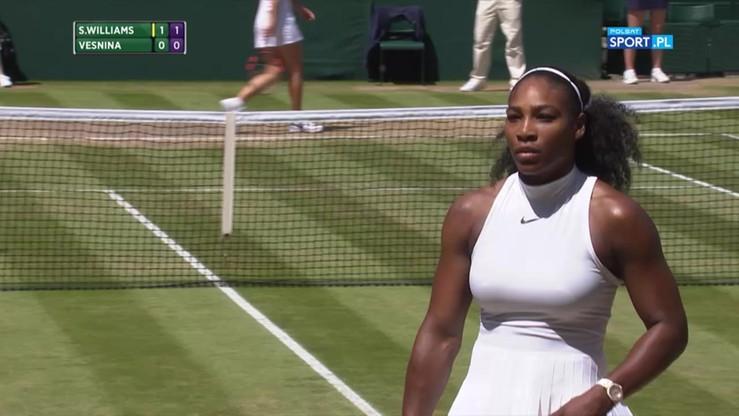 Wimbledon: Serena Williams zdemolowała rywalkę serwisem