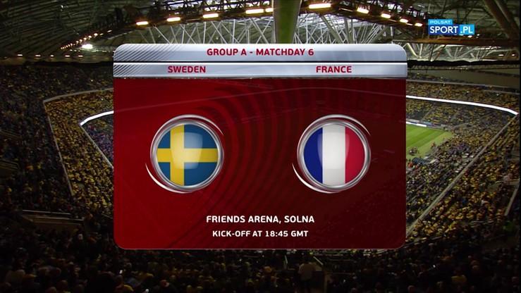 Szwecja - Francja 2:1. Skrót meczu