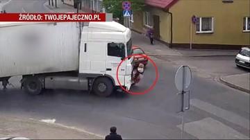 Groza na skrzyżowaniu w Pajęcznie. Kobieta pod tirem
