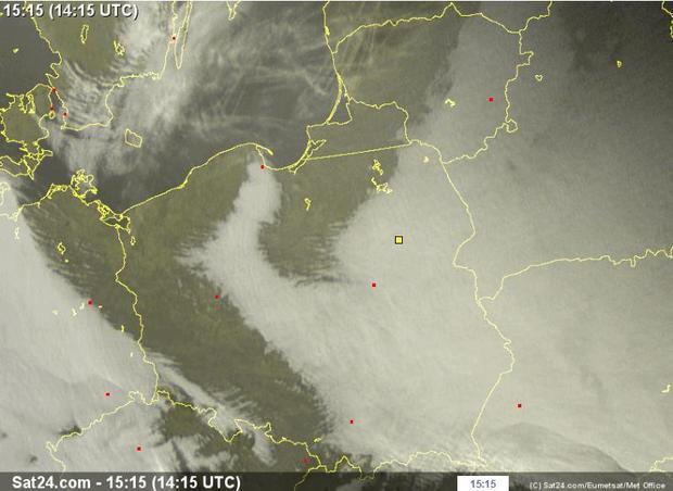 Niesamowity Uklad Chmur Nad Polska Twojapogoda Pl