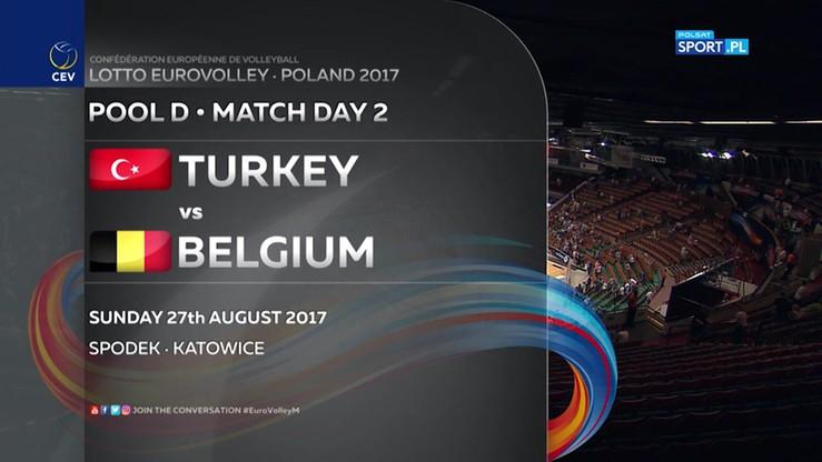 Turcja - Belgia 2:3. Skrót meczu