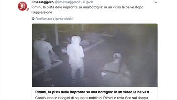 02-09-2017 15:20 Kamery monitoringu nagrały sprawców napadu w Rimini. Włoskie media publikują ich wizerunek