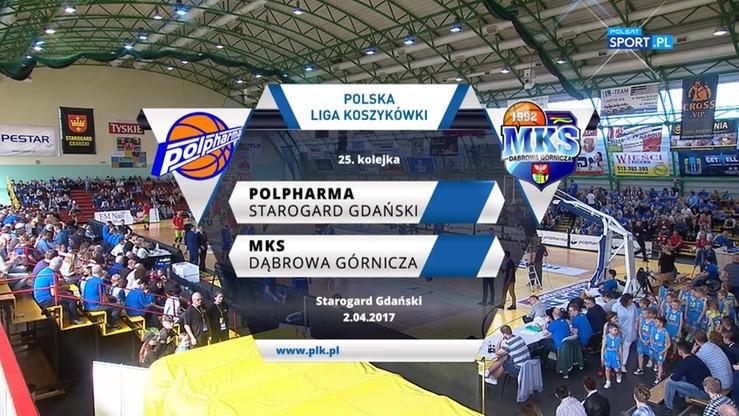 Polpharma Starogard Gdański - MKS Dąbrowa Górnicza 62:69. Skrót meczu