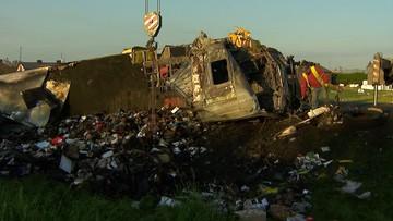 Czołowe zderzenie ciężarówek. Są ofiary śmiertelne. Droga jest zablokowana
