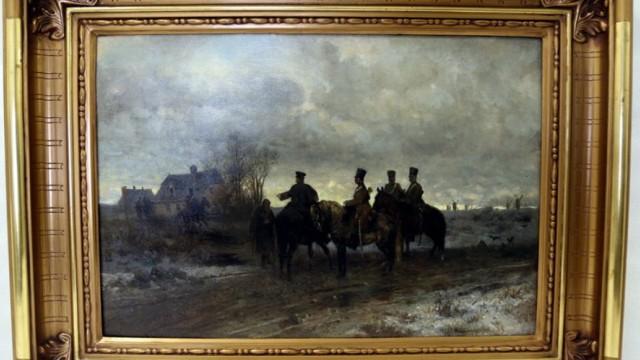 """Policja odzyskała obraz Gierymskiego """"Patrol Polski 1830 roku"""