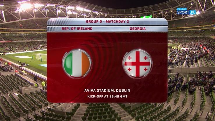 2016-10-06 Irlandia - Gruzja 1:0. Skrót meczu