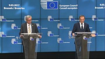 10-03-2017 12:19 Tusk: będę się komunikował z polskim rządem po polsku. Juncker: mam nadzieję, że polski rząd ten język zrozumie