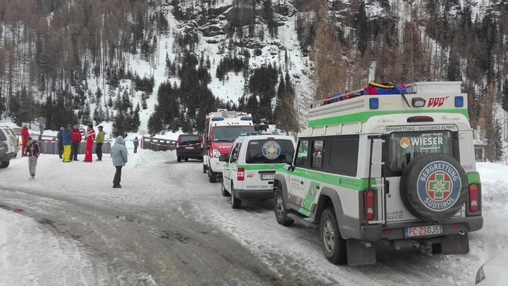 Lawina we włoskich Alpach. Są ofiary śmiertelne