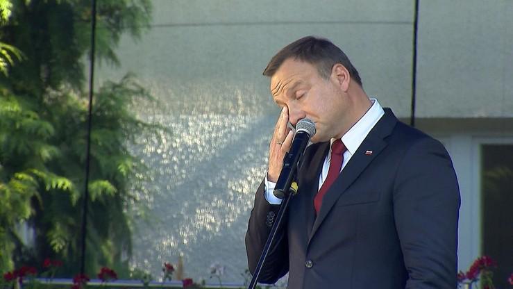 Łzy prezydenta. Andrzej Duda wzruszył się wspominając funkcjonariusza BOR, który zginął z Marią Kaczyńską