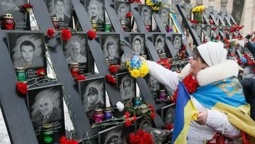 18-02-2017 19:04 Ukraińcy uczcili pamięć ofiar walk na Majdanie. Trzecia rocznica dramatycznych wydarzeń