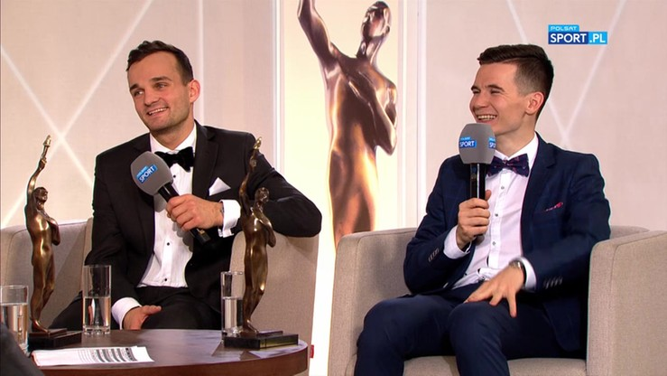 Bartosz Zmarzlik i Patryk Dudek w studiu Gali Mistrzów Sportu