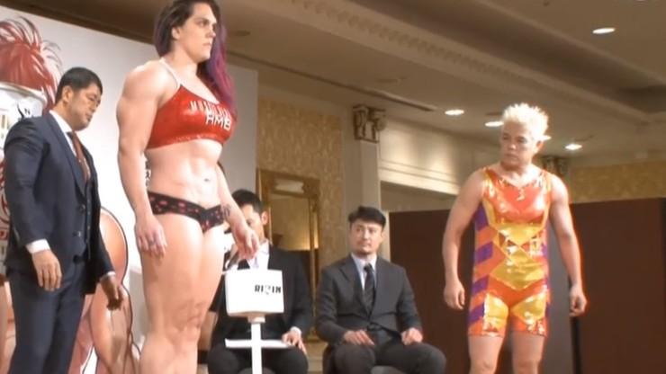 Wyjątkowe ważenie w Japonii! Bijatyka, 12 kilogramów ponad limit i przebieranki (WIDEO)