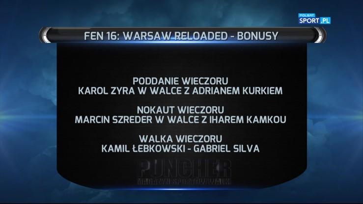 FEN 16: Rozdano bonusy