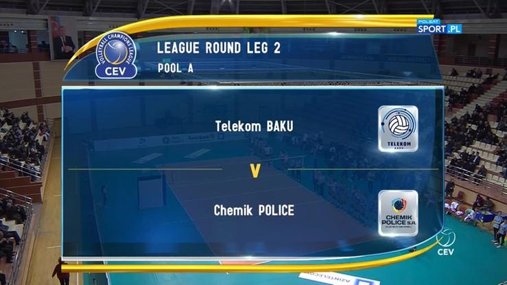Telekom Baku - Chemik Police 0:3. Skrót meczu