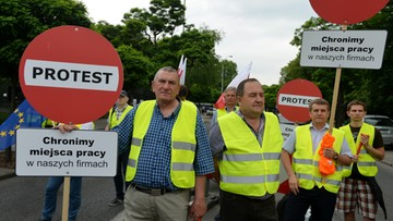 31-05-2016 14:46 Przewoźnicy protestowali przeciw płacy minimalnej we Francji i Niemczech. Nie chcą płacić kierowcom według zagranicznych stawek