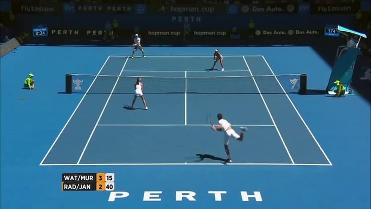 Radwańska/Janowicz - Watson/Murray. Skrót meczu