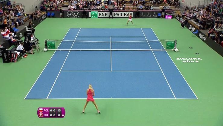 Urszula Radwańska - Martina Hingis 2:1. Skrót meczu