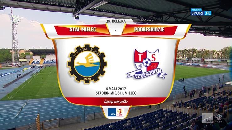 2017-05-06 Stal Mielec - Podbeskidzie Bielsko-Biała 0:1. Skrót meczu