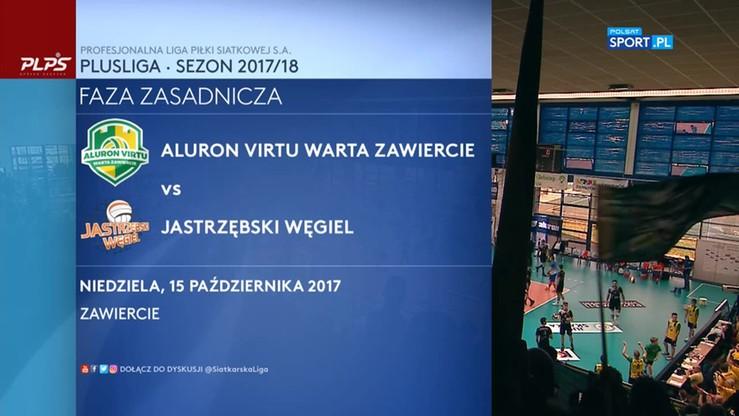 Aluron Virtu Warta Zawiercie - Jastrzębski Węgiel 0:3. Skrót meczu